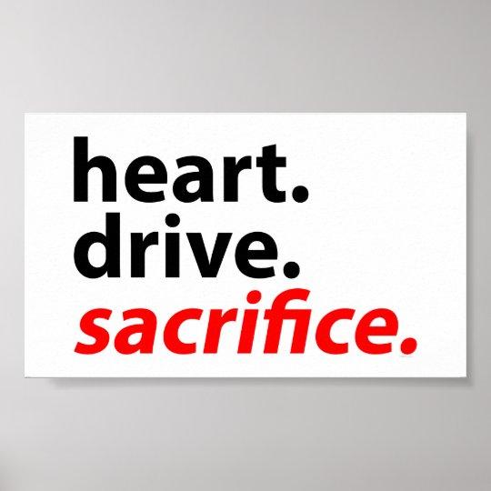 Heart Drive Sacrifice Fitness Motivation Slogan Poster