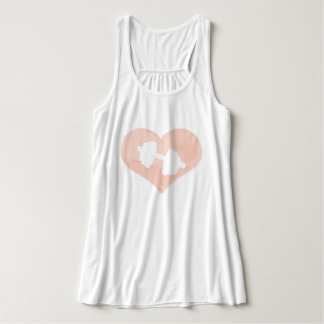Heart Dumbbell Fitness Casual Tank Top