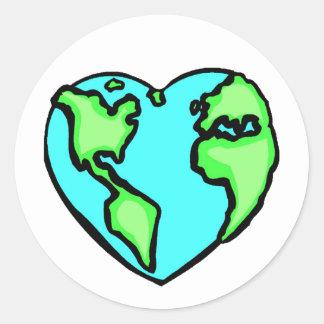 Heart Earth Sticker