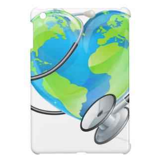 Heart Earth World Globe Stethoscope Health Concept Cover For The iPad Mini