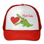 Heart Eater Funny Crocodile Kids Hat