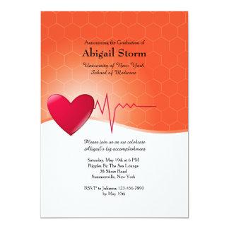Heart Electrocardiogram Graduation Invitation