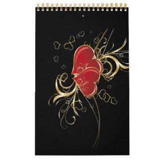 Heart Elegance Guest Book (notebook) Calendars