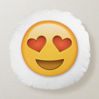 Heart Emoji Round Cushion
