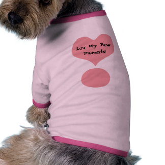 Heart Exclaimation Mark Love My Paw Parents Pet Cl Dog T-shirt
