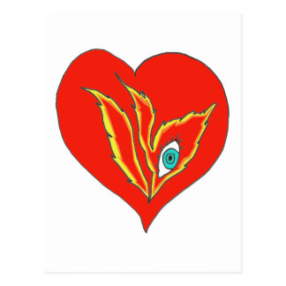 HEART EYE FLAME 1.PNG POSTCARDS