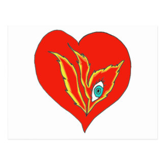 HEART EYE FLAME 1 PNG POSTCARDS