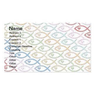 HEART-EYED JESUS FISH PACK OF STANDARD BUSINESS CARDS