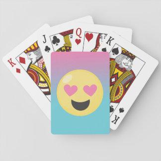 Heart Eyes Emoji Playing Cards