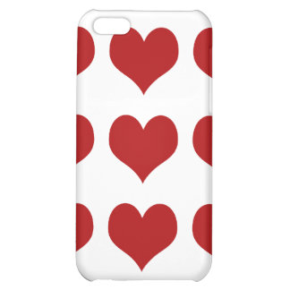 Heart FabricCovered Hard Shell Case for iPhone4 4S Case For iPhone 5C