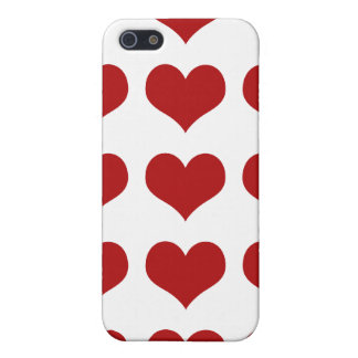 Heart FabricCovered Hard Shell Case for iPhone4 4S iPhone 5 Case