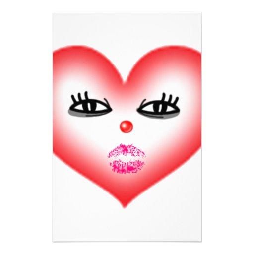 heart face stationery