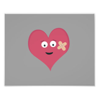 Heart face with patch photographic print