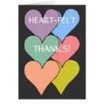 HEART-FELT THANKS! - thank you card