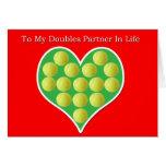 Heart Filled Tennis Balls Valentine's Day Card