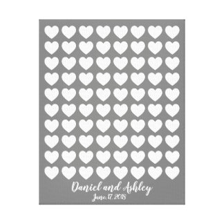 Heart Fingerprint Wedding Guest Book