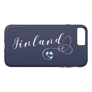 Heart Finland Mobile Phone Case, Finnish iPhone 8 Plus/7 Plus Case