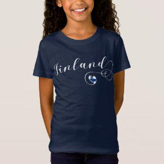 Heart Finland Tee Shirt, Finnish, Finn