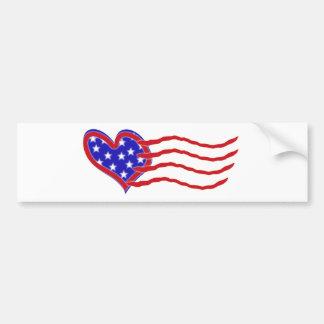 Heart Flag Bumper Sticker