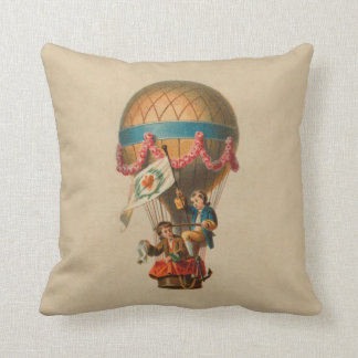 Heart Flag Hot Air Balloon Cushion