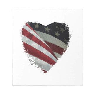 heart flag notepad