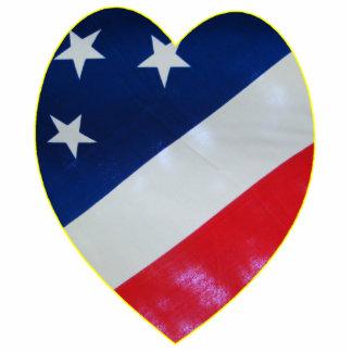 Heart Flag Standing Photo Sculpture