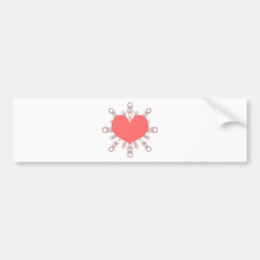 Heart Flake IV Bumper Sticker