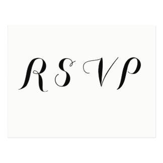 Heart floral modern wedding rsvp postcards