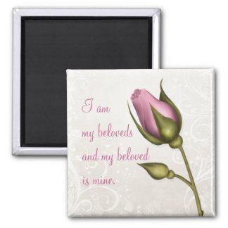Heart Flourish Pink Magnet ~ My Beloved