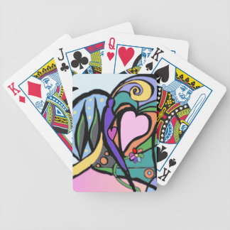 Heart flow Modern art Bicycle Playing Cards