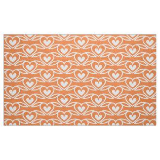 heart flower fabric