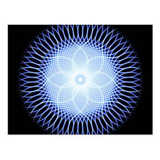 Heart Flower Mandala Postcard