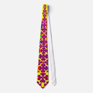 Heart Flowers by Kenneth Yoncich Tie