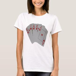 Heart_Flush,_Ladies_White_T-shirt. T-Shirt