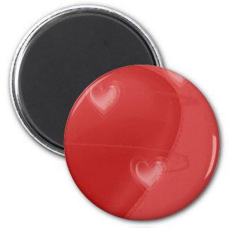 Heart Flutter 6 Cm Round Magnet