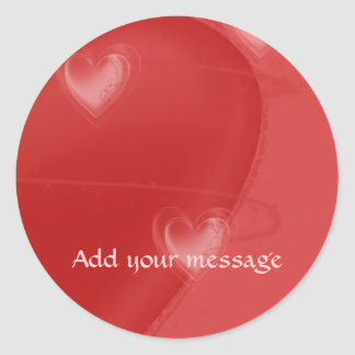 Heart Flutter Classic Round Sticker