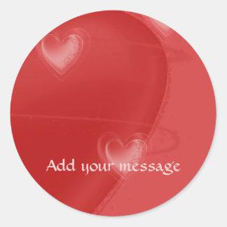 Heart Flutter Round Sticker