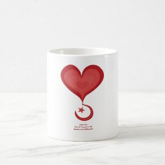 Heart for Star & Crescent Heart Art Ceramic Mug
