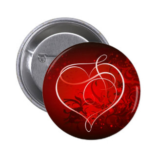 Heart for the St Valentine s day - Pinback Buttons