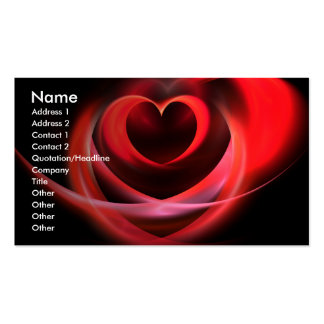 Heart Fractal Business Cards