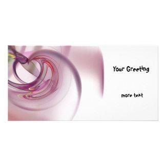 Heart Fractal Photo Card Template