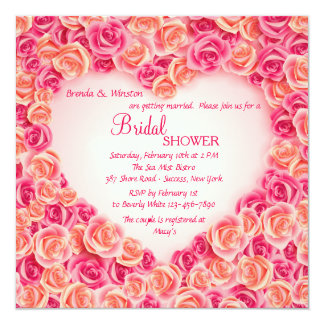 Heart Frame of Roses Invitation