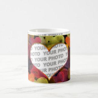 Heart Frames 1 + your photo Basic White Mug