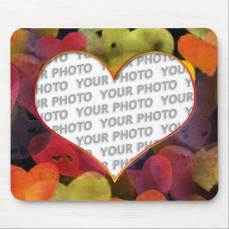 Heart Frames 1 + your photo Mouse Pad