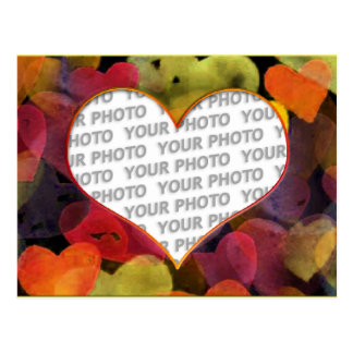 Heart Frames 1 + your photo Postcard