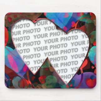 Heart Frames 4 + your photo Mouse Pad