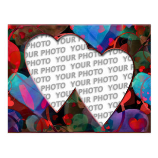 Heart Frames 4 + your photo Postcard