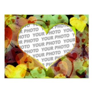 Heart Frames 5 + your photo Postcards