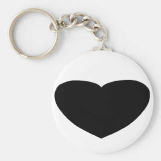 Heart Freeform 2 Black The MUSEUM Zazzle Gifts Basic Round Button Key Ring