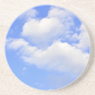 Heart from clouds Drink Coaster